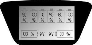 everActive NC-900U laturin näyttö