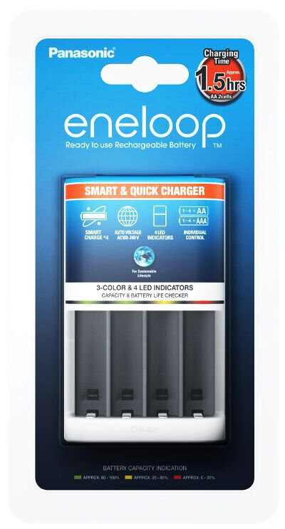 PANASONIC ENELOOP SMART CHARGER BQ-CC55E CC16 FOR AA AAA BATTERIES NEW
