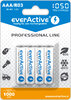 4x rechargeable everActive R03/AAA Ni-MH 1050 mAh ready to use