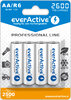 4x rechargeable everActive R6/AA Ni-MH 2600 mAh ready to use
